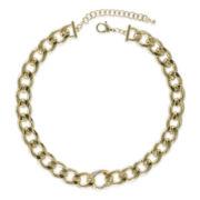 Jardin Gold-Tone Graduated Curb Link Necklace
