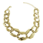 Jardin Modern Gold-Tone Graduated Curb Link Necklace