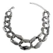 Jardin Modern Black Graduated Curb Link Necklace