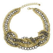 Jardin Two-Tone Woven Link Necklace