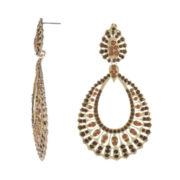 Jardin Brown Stone Bohemian Teardrop Earrings