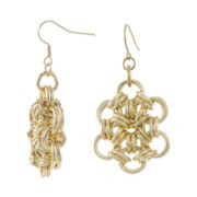 Jardin Braided Love Knot Gold-Tone Earrings