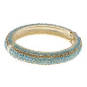 Jardin Aqua Stone Gold-Tone Bangle Bracelet