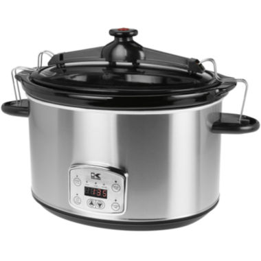 jcpenney.com | Kalorik® 8-qt. Stainless Steel Digital Slow Cooker with Locking Lid