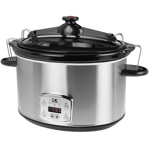 Kalorik® 8-qt. Stainless Steel Digital Slow Cooker with Locking Lid
