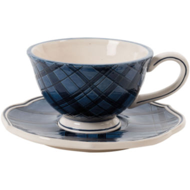 jcpenney.com | Fitz and Floyd® Bristol Tartan Cup and Saucer