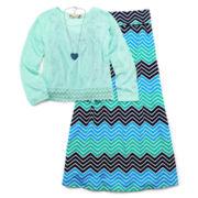 Speechless 2-pc. Top and Chevron Skirt Set - Girls