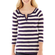 Arizona 3/4-Sleeve Striped Tee