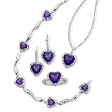 jcpenney.com | Lab-Created Amethyst & Cubic Zirconia 4-pc. Boxed Jewelry Set