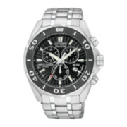 Citizen® Signature Courageous Mens Silver-Tone Chronograph Watch BL5440-58E