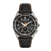Citizen® Signature Octavia Mens Leather Strap Chronograph Watch BL5500-07E
