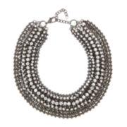 Natasha White Crystal Link Necklace