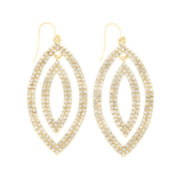 Natasha Crystal Double-Wavy Leaf Earrings