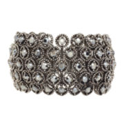 Natasha Crystal Milgrain Cuff Bracelet
