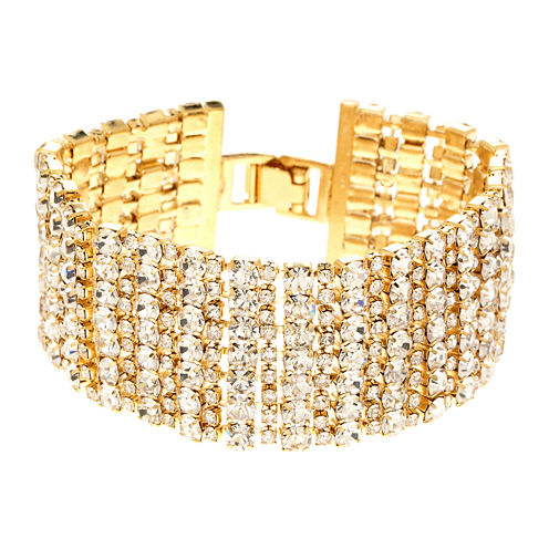 Natasha Crystal Multi-Row Alternating Bracelet
