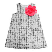 Marmellata Floral Gingham Burnout Organza Dress - Girls 12m-6y
