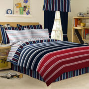 Regatta 6-pc. Twin Striped Complete Bedding Set with Sheets Collection