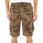 Plugg® Enclave Camo Belted Cargo Shorts