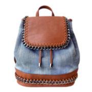 Olivia Miller Demi Denim Zip-Trim Backpack