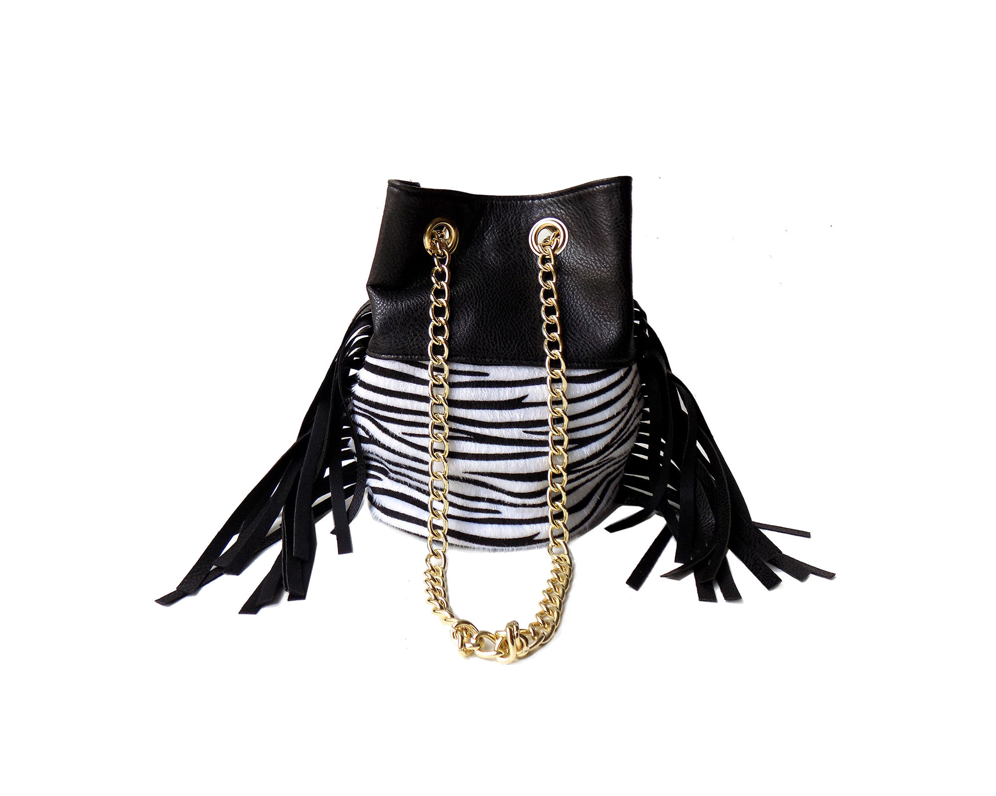Olivia Miller Tahlia Fringe Mini Bucket Bag