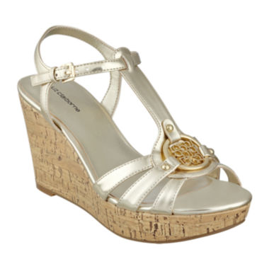jcpenney.com | Liz Claiborne® Kattie Logo Wedge Sandals