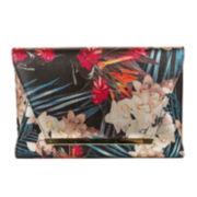 Gunne Sax® Metallic Floral Clutch Evening Bag