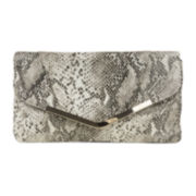 Gunne Sax® Envelope Flap Snake Print Clutch Evening Bag