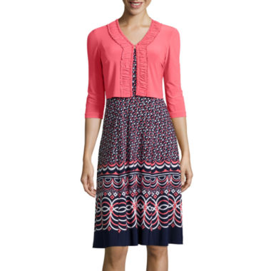 jcpenney.com | Danny & Nicole® 3/4-Sleeve Print Jacket Dress