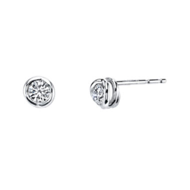 jcpenney.com | Sirena™ 1/4 CT. T.W. Diamond 14K White Gold Stud Earrings