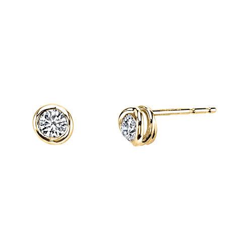 Sirena™ 1/4 CT. T.W. Diamond 14K Yellow Gold Stud Earrings