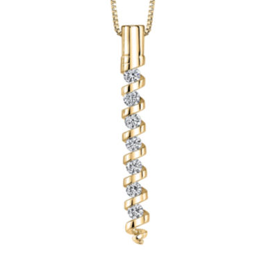 jcpenney.com | Sirena™ 1/4 CT. T.W. Diamond 14K Yellow Gold Pendant Necklace
