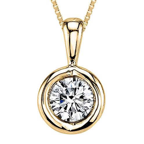 Sirena™ 1/12  CT. T.W. Diamond 14K Yellow Gold Pendant Necklace