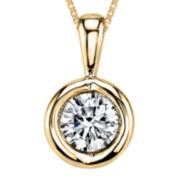 Sirena® 1/4 CT. T.W. Diamond 14K Yellow Gold Pendant Necklace