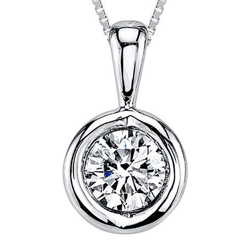 Sirena™ 1/12 CT. T.W. Diamond 14K White Gold Pendant Necklace