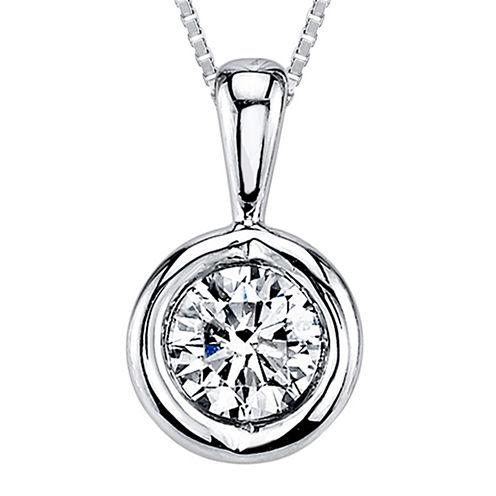 Sirena™ 1/4 CT. T.W. Diamond 14K White Gold Pendant Necklace