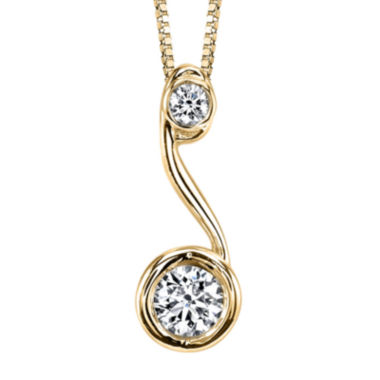 jcpenney.com | Sirena™ 1/5 CT. T.W. Diamond 14K Yellow Gold Pendant Necklace