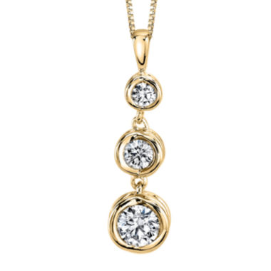 jcpenney.com | Sirena® 1/3 CT. T.W. Diamond 14K Yellow Gold Pendant Necklace