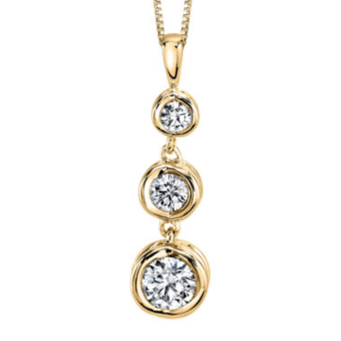 jcpenney.com | Sirena™ 1/2 CT. T.W. Diamond 14K Yellow Gold Pendant Necklace