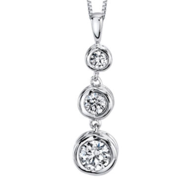 jcpenney.com | Sirena® 1/4 CT. T.W. Diamond 14K White Gold Pendant Necklace