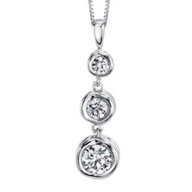 jcpenney.com | Sirena® 1/3 CT. T.W. Diamond 14K White Gold Pendant Necklace