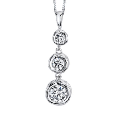 jcpenney.com | Sirena™ 1/2 CT. T.W. Diamond 14K White Gold Pendant Necklace