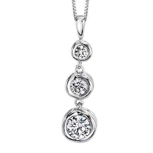 Sirena™ 1/2 CT. T.W. Diamond 14K White Gold Pendant Necklace