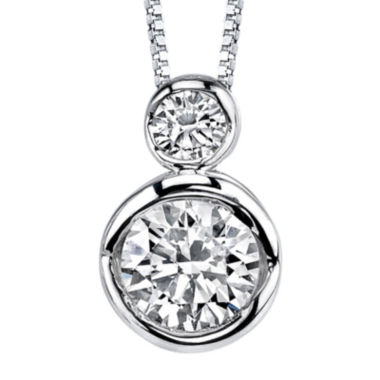 jcpenney.com | Sirena® 1/5 CT. T.W. Diamond 14K White Gold Pendant Necklace
