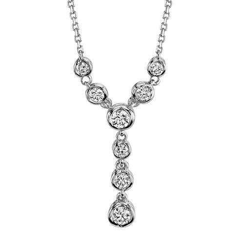 Sirena® 1/4 CT. T.W. Diamond 14K White Gold Necklace