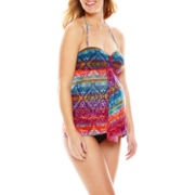 Spencer® Mosiac-Print Tankini Swim Top and Bikini Bottoms - Maternity