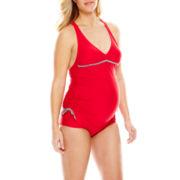 Spencer® Maternity Shirred Sides Tankini Swim Top or Hipster Swim Bottom - Maternity