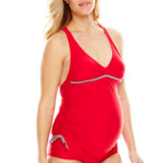 Spencer® Shirred-Side Tankini Swim Top - Maternity