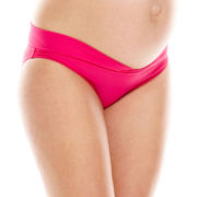 Spencer® Crossover Waistband Bikini Bottoms - Maternity