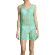 Porto Cruz® Sleeveless Mesh Tank Dress Swim Cover-Up