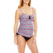 Christina® Diamond Print Tankini Swim Top or 3-Way Swim Bottoms - Maternity